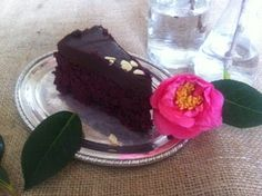 Raw beetroot and cacao mud cake