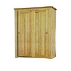 Contemporary Solid Oak QPW16 Sliding Door Wardrobe  www.easyfurn.co.uk Oak Wardrobe, Built In Wardrobe, Light Oak Furniture, Solid Oak, Sliding Doors, Armoire, Tall Cabinet Storage, Traditional, Contemporary