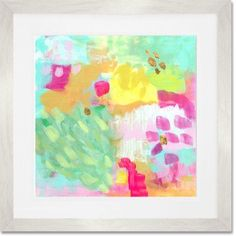 GreenBox Art 'Rhubarb Mint Sorbet' by Mati Rose McDonough Framed Painting Print Frame Color: White