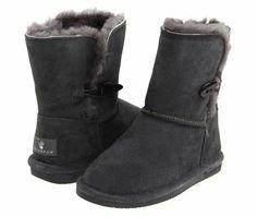Charcoal Bearpaw Boots