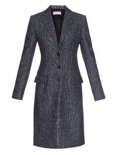 Balenciaga Single-breasted tweed coat