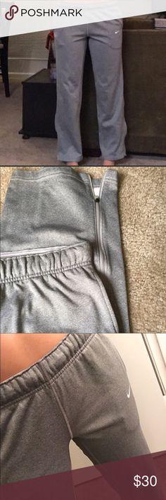 Nike Therma-Fit Sweatpants Grey Thick Nike Therma-Fit Sweatpants . 29 inch inseam. Would fit 0-4 well!! Nike Pants Track Pants & Joggers