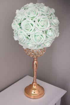LIGHT MINT  Kissing Ball. Wedding Centerpiece. by KimeeKouture
