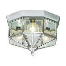 View the Livex Lighting 7012 3 Light 75W Flushmount Ceiling Light with Candelabra Bulb Base and Clear Beveled Glass from Home Basics Series at LightingDirect.com.