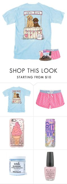 """""""i is for ice cream & iced tea"""" by madelinelurene ❤ liked on Polyvore featuring Southern Tide, Casetify, Mod Bath and Body, OPI and Birkenstock"""
