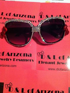 Hello Kitty Bling Sunglasses with Red Glitter Bow by DLofAZjewelry, $26.00