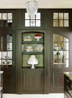 Our Most Beautiful Kitchens | Traditional Home Could be utility rm or butler pantry on orher side, nice!