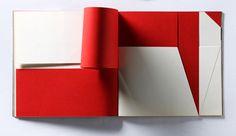 Bruno Munari, Libro illeggibile bianco e rosso, 1953.