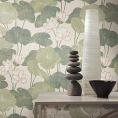 Roommates 28 29 Sq Ft Neutral Lily Pads Peel And Stick Wallpaper Rmk11243rl In 2020 Peel And Stick Wallpaper Wallpaper Roll Lily Pads