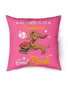 All I Need Is My Dachshund Dog A Good Book Mugs - Cyber Pink dachshund quotes, crusoe the celebrity dachshund, beagle dachshund mix #DachshundSmile #DachshundsThroughtNovember #dachshundsonintagram, dried orange slices, yule decorations, scandinavian christmas Dachshund Quotes, Dachshund Mix, Crusoe The Celebrity Dachshund, Yule Decorations, Wire Haired Dachshund, Orange Slices, Scandinavian Christmas, Beagle, Winnie The Pooh