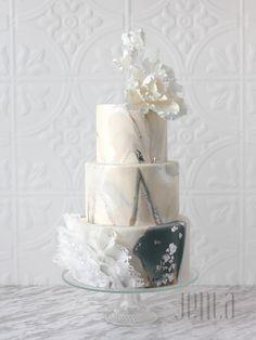 Ruffled Marble - Cake by Jen La - JENLA Cake - CakesDecor