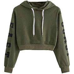 65badeff34a Girls Hoodie, Misaky Rose Parttern Sweatshirt Jumper Sweater Crop Top  Pullover Tops