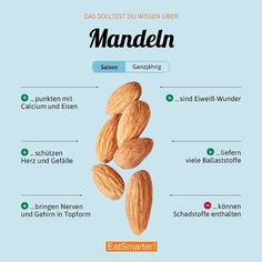 Do you like to eat pure almonds or prefer processed in the recipe? Here's a simple DIY for almond milk: Source How To Stay Healthy, Healthy Life, Healthy Eating, Diet Recipes, Healthy Recipes, Pinterest Recipes, Pinterest Food, Food Facts, Diet Meal Plans