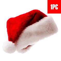 4d99b0806e6 Extra Off Coupon So Cheap Soft Plush Ultra Thick top Grade Santa Claus  Gifts Christmas Caps Red Hats