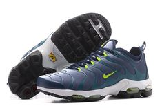 7ab125e51994 Men s Nike Air Max Plus TN Ultra Shoes Dark Blue Dark Green Fluorescent Green  881560-412 UK Trainers Sale