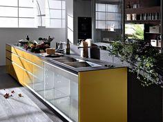 Glass Fitted Kitchen ARTEMATICA VITRUM By VALCUCINE Design Gabriele Centazzo