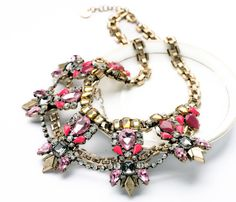 New Styles Statement Fashion Elegant Resin Stone Plant Pendant Luxury Banquet Necklaces &Pendant 2014