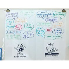 This is why I love Pinterest: You find THIS .   I do a lesson on Fixed versus Growth Mindset and I saw the idea to use images of Calvin because well he's just so EXPRESSIVE. #andwhodoesntloveCalvinandHobbes?  I love how our anchor chart lurked out! Look for the pin  on my Back to School board through the link in my profile! #fixedvsgrowthmindset