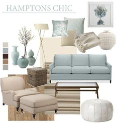 Hamptons Chic Beach House Style #CoastalDecor