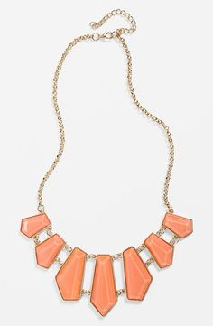 Cute! Geometric Bib Necklace (only $22)