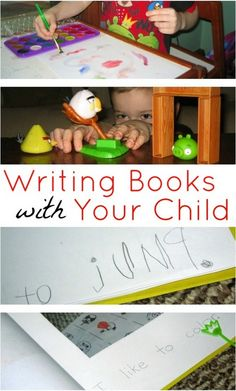 Writing Books with Your Child guest post by Becky Spence on No Time for Flashcards {Hands downs one of my most favorite ways to teach kids to write and read!}