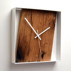 Reclaimed Pallet Wood Strip Clock By Palletart On Etsy