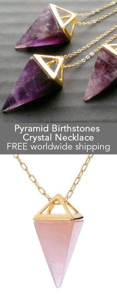 Pyramid Birthstones Sapphire Heart Pendant