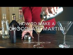 Chocolate Martini Recipe- Garnish with Lemon