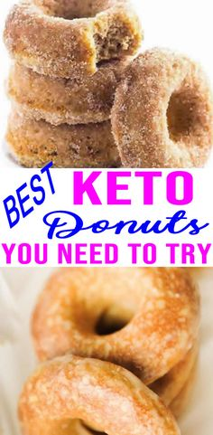 You can have donuts on keto! BEST keto recipes for yummy and delicious low carb donuts. Keto Foods, Keto Diet Drinks, Ketogenic Foods, Low Carb High Fat, Low Carb Keto, Low Carb Recipes, Coconut Flour Recipes Keto, Keto Diet List, Starting Keto Diet