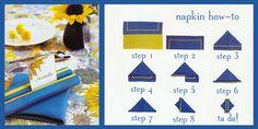 napkin folding styles - Bing Imágenes
