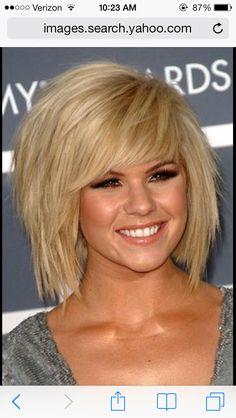 Cute short choppy hairstyle for thick hair!