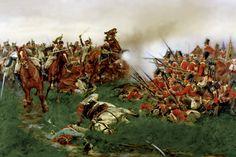Carica dei corazzieri francesi contro un quadrato inglese a Waterloo - Wollen
