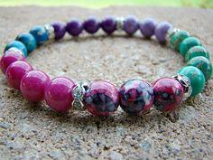 Beaded Stretch Bracelet, Stackable Bracelets, Beaded Bracelets, Stackable Beaded Bracelet, Bead Bracelet Women, Beaded Stack Bracelets by BeJeweledByCandi on Etsy