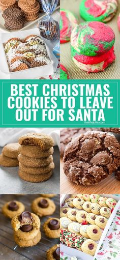 Check out these great cookie recipes to leave out for Santa this Christmas! Christmas Food Gifts, Best Christmas Cookies, Homemade Christmas Gifts, Christmas Candy, Christmas Desserts, Holiday Treats, Holiday Recipes, Christmas Recipes, Christmas Ideas