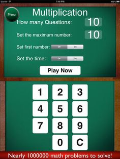 Math Flash Cards * by King's Apps
