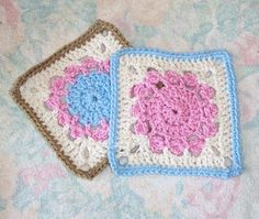 SmoothFox Crochet and Knit: SmoothFox's Garden of Flowers 6x6 - Free Pattern
