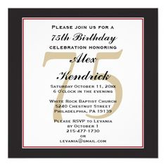 73 best 75th birthday invitations images in 2018 75th birthday
