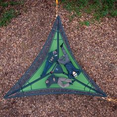 A fantastic way to hammock camp, slackline and enjoy the forest's adventures the Trillium camping hammock is unique and versatile. Ships FREE from Hammock Town.
