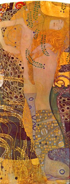 Gustav Klimt Water Serpents I. Klimt was a master at capturing female beauty. Gustav Klimt, Art Klimt, Art Nouveau, Franz Josef I, Art Graphique, Art Plastique, Oeuvre D'art, Love Art, Urban Art