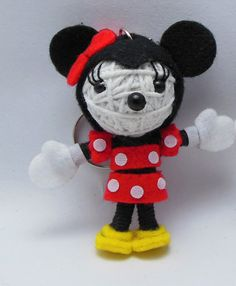 Minnie Mouse String doll Voodoo doll keychain new 2012 / FREE Shipping via Etsy