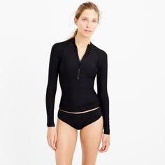 Solid long-sleeve rash guard - swim -Women- J.Crew