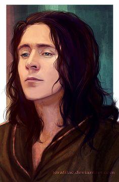 #TomHiddleston | #Loki in #ThorTheDarkWorld (2013) | Gorgeous fanart via teralilac