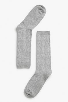 Sock drawer need a makeover? Bag yourself some these lovely textured socks in a stretch cotton blend, which are soft against your soles. Sheer Socks, Grey Light, Retro Futurism, Like A Boss, Monki, World Of Fashion, Drawer, Neutral, Autumn