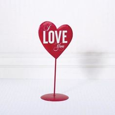 Decorative Love You Heart on Stand
