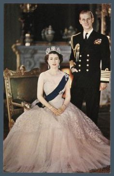 Queen Elizabeth II And Her Husband, Prince Philip, The Duke Of Edinburg.