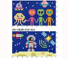 Cross Stitch Designs, Cross Stitch Patterns, Quilt Patterns, Pixel Pattern, Pattern Art, Cross Stitching, Cross Stitch Embroidery, Fair Isle Chart, Knitted Mittens Pattern