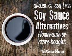 Gluten free and soy free healthy soy sauce alternatives - includes homemade and store bought versions!