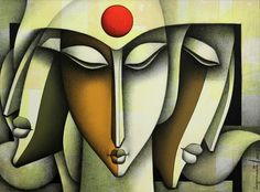 Figurative Art By Jagannath Paul On Online Art Gallery Art Deco Paintings, Indian Paintings, Indian Contemporary Art, Modern Art, Abstract Face Art, Indian Folk Art, Artist Art, Figurative Art, Painting & Drawing