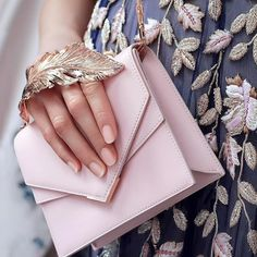 Pretty in pink - the Ralph & Russo 'Alina Clutch' in Baby Pink. Available at our boutique in @harrods on level 1, Superbrands or online at www.ralphandrusso.com #alinaclutch #accessories #clutchbag