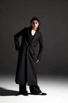 2020-21 A/W 001, Scottish Cheviot Wool 4B Double Breasted Chester Coat    DRC-C03-102F, Scottish Cheviot Wool Slit Baggy Pants   DRC-P06-102 Double Breasted, 21st, Wool, Pants, Jackets, Chester, Fashion, Gowns, Down Jackets